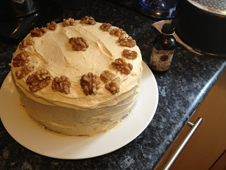 80's Inspired Coffee and Walnut Cake