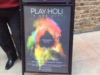 Follow the Yellow, Blue, Green & Red Brick Road  – Festival of Holi at  Cinnamon Kitchen