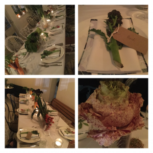 Table settings at M&S Veganuary event