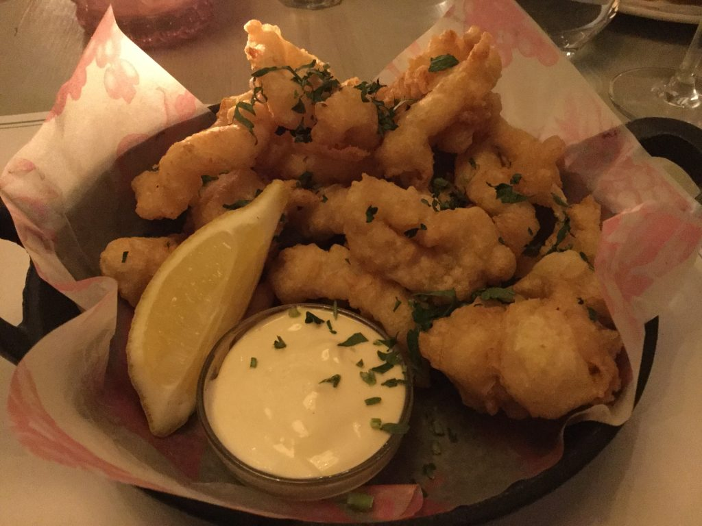 Bill's restaurant squid starter