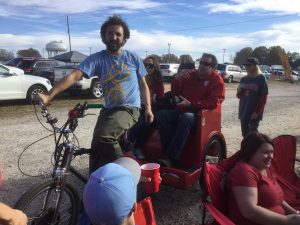 Tailgate party taxi